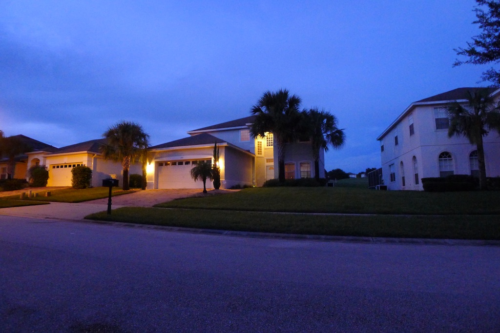 My villa in florida 2 villa at dusk for My villa